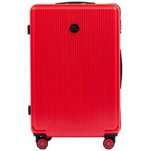 Suur reisikohver punane-tugev (PC565-L)
